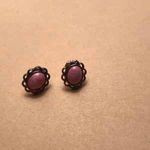 Jewelry - Carolyn Pollack Rhodonite earrings